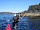 Kayaking Beecher Bay, April 5, 2015