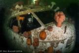 Diver (Steve) in Cockpit of Sunken 737