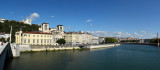 Avignon to Lyon, by the river Rhone, France