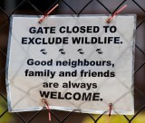 Selective Welcome Sign