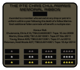 Colonial Marine Ribbon Infographic FNG