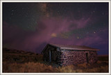 Midnight at the old Pony Express Cabin.