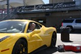 Me in a Fly Yellow Ferrari 458.