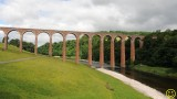 Leaderfoot Viaduct over the Tweed River Scotland.