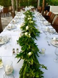 Garland table runner used from arch