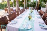 Mint & pinks dinner setting. Photo by www.mandjphotos.com