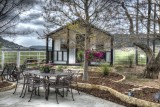 Patio and Bunkhouse at the 4C Ranch