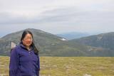 Joanne on Mt. Washington