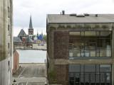 Aarhus vue du batau, à quai / Aarhus as seen from the docked ship