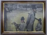 Degas, Place de la Concorde, (Le Comte Lepic et ses filles), 1876