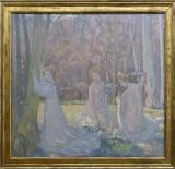 Maurice Denis, Figures dans un paysage de printemps (Le bois sacré), 1897