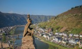 Lion Statue and View of the Mosel River