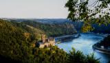 Rhine River Valley with Castle Katz