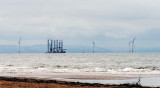 Errecting a windfarm in Liverpool Bay