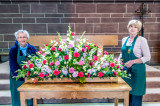 Easter flower arrangement for the Central Space alter  and the arrangers.