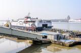 Loading the Isle of Man ferry Manannan