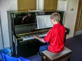 Barnaby at the piano