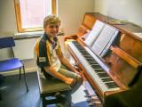 Gabriel  at the piano