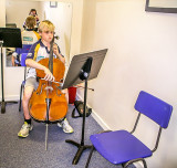 Gabriel playing the cello