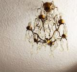 Chandelier in the bedroom at Miller Howe                  -