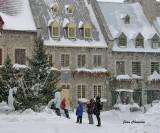 Tempête de Neiges 35 cm / Place Royal Québec