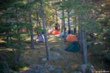 En liten fin lägerplats.