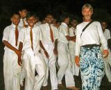 Jonathan Thomson and friends at Dambulla Cave Temple - Sri Lanka