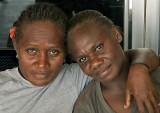 Crystal and Nancy in Honiara - Solomon Islands
