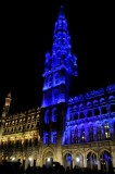 Brussels - Grand Place - Cityhall with X-mas lightshow!!