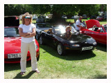 Wendy at the MX5 show Kimbolton Castle Bedford