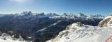 Vista desde Pista Olímpica en Cortina D'Ampezo