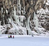 Escaladores en hielo