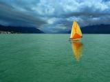 I might enjoy the wild beauty of a stormy lake....
