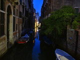 Small canal in blue...