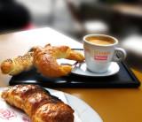 Having breakfast at a side-walk café table is always enjoyable...