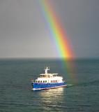 Rainbow boat...
