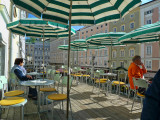Sipping a cup of coffee on the terrace of the famous, old Café Tomaselli...