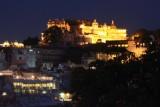 2014079564 City Palace Udaipur twilight.JPG