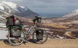 463    Mirjam touring Iceland - Multicycle Leader touring bike