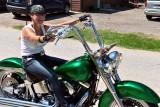 Lady Rides Green