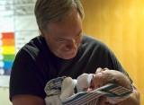 Me, Examining My Grandson