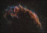 Eastern Veil nebula - Hubble pallate