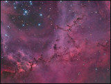 The leaping Puma in the Rosette nebula - natural color