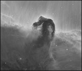 Horsehead nebula through a 4M telescope