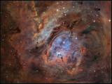Deep in the Lagoon nebula