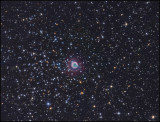 NGC 2438 in the middle of M46