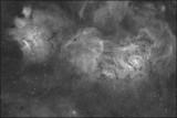 Messier 8 wide field Hydrogen Alpha image only