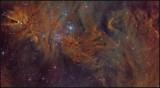 The Cone nebula region - closeup