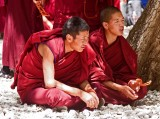 Monks in the Sera Monastery, Lhasa