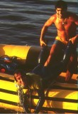 Getting Niki into the boat